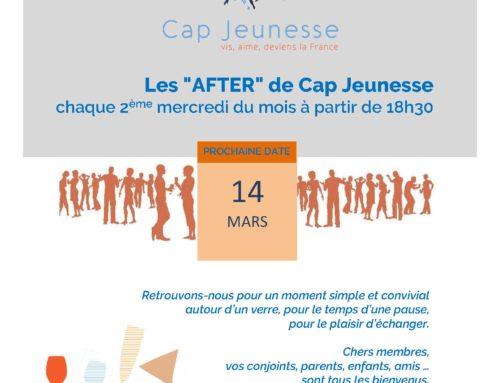 AFTER DE CAP JEUNESSE OUVERT A TOUS LE 14 MARS A PARTIR DE 18H30 !